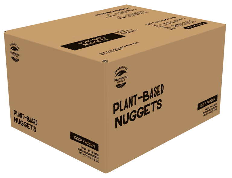 OZO plant-based nuggets Foodservice case visual